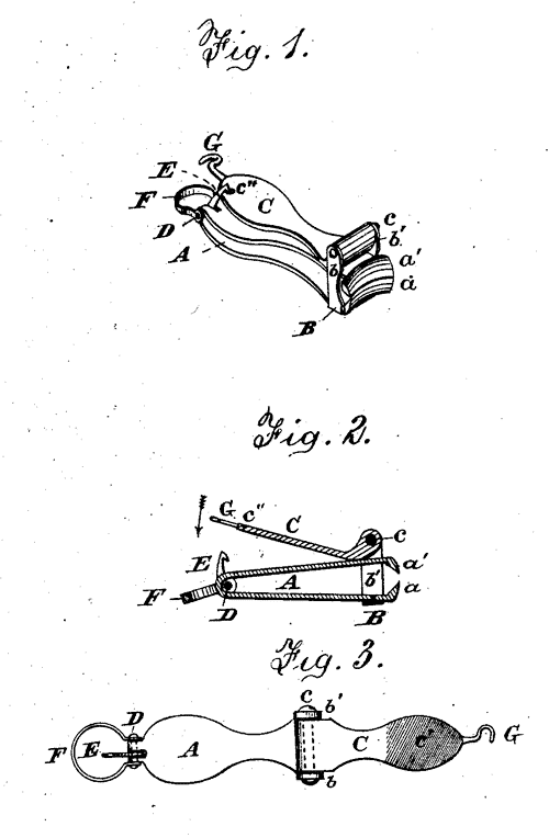 Fingernail clippers patent