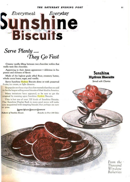 Sunshine Biscuits ad