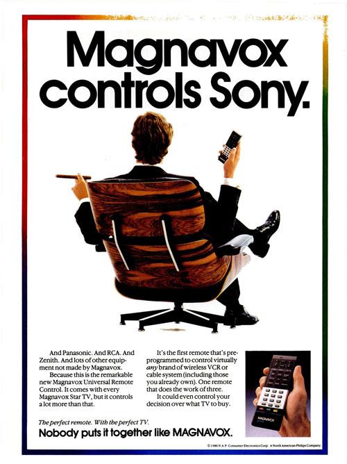 Magnavox controls Sony.