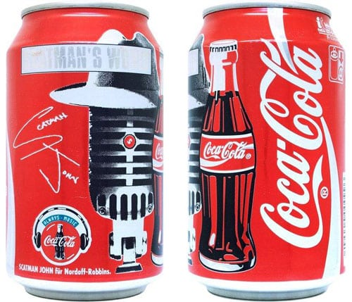 Scatman John Coke cans