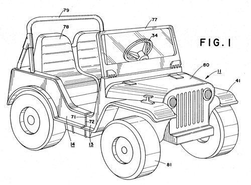 Power Wheels patent drawing