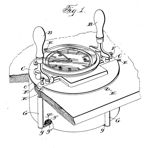 Calculagraph patent illustration