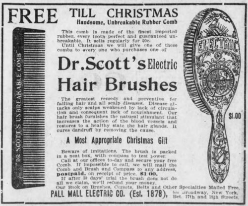 Comb ad Brooklyn Daily Eagle