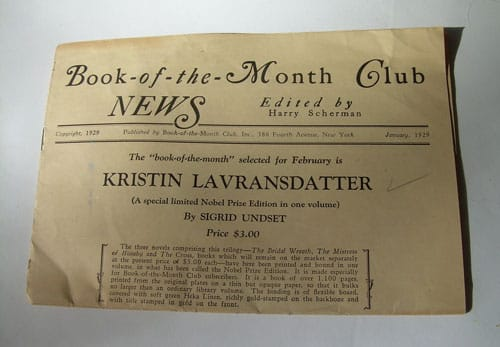 Book of the Month Club Newsletter