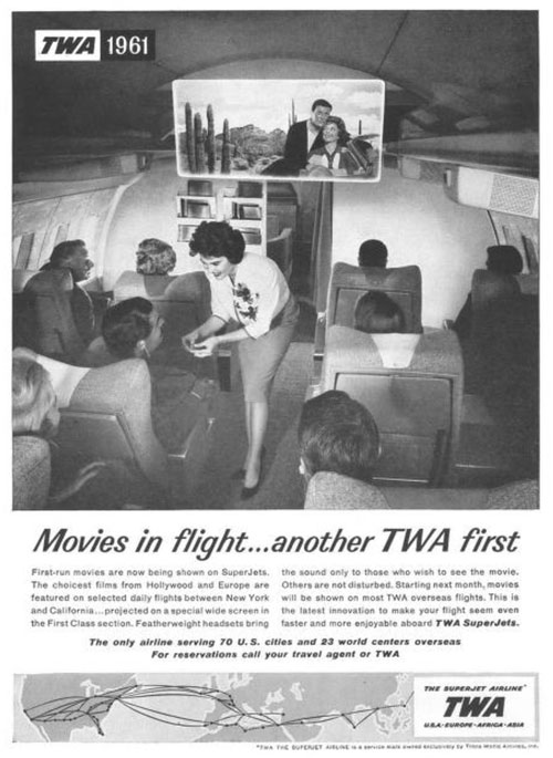 In-flight movies TWA