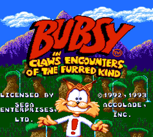 Bubsy Sega license