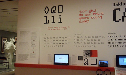 OCR-A at the Museum of Modern Art