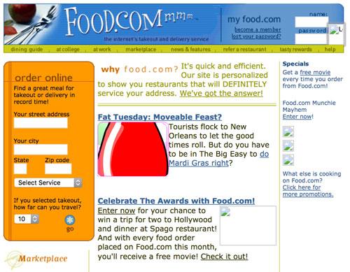 Food.com screenshot