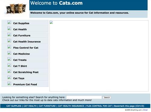 Cats.com November 2005