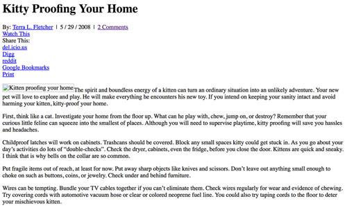 Cats.com August 2008