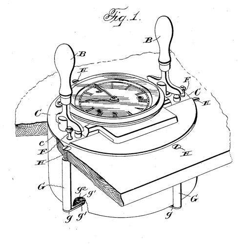 Calculagraph patent illustration