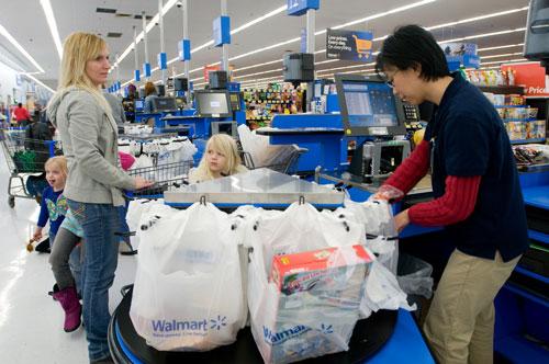 Walmart checkout line