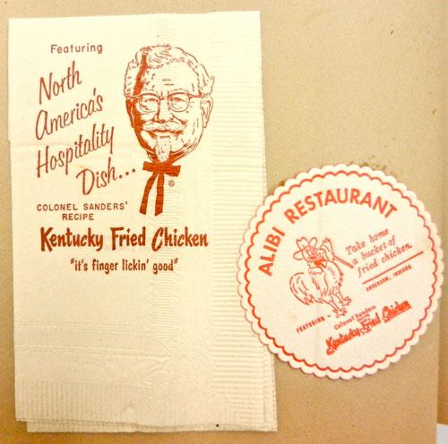 Vintage KFC napkin