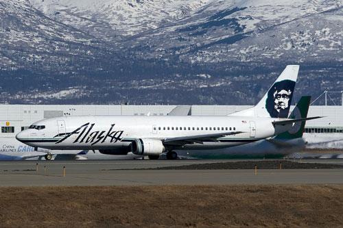 Alaska Airlines combi jet