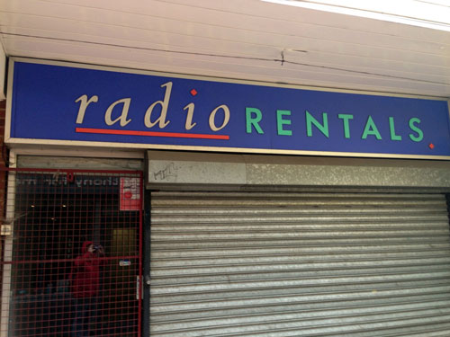 Radio Rentals location