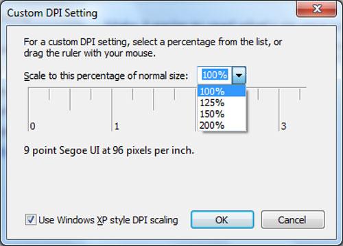 Windows Custom DPI