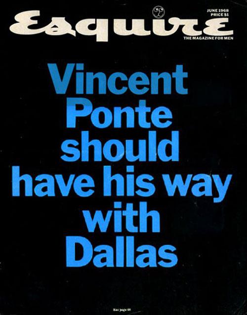 Esquire Vincent Ponte cover