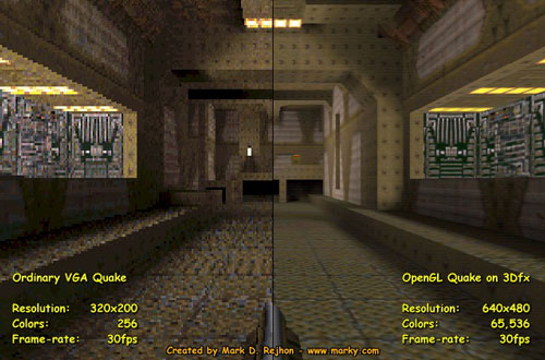 Quake visual comparison