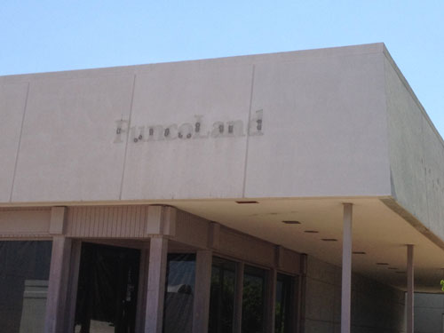 FuncoLand missing sign