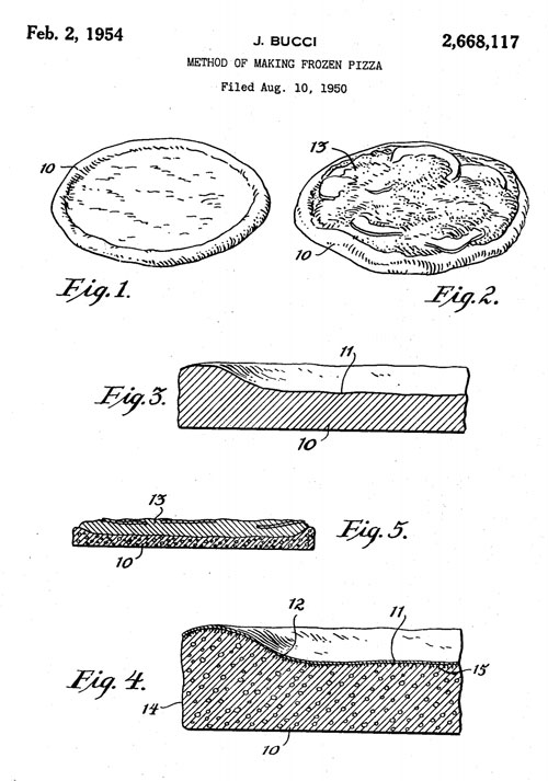 Frozen pizza patent