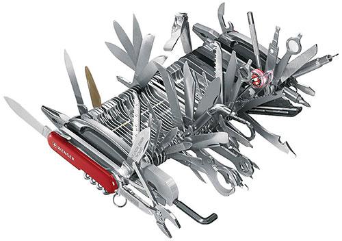 identify swiss army knife model