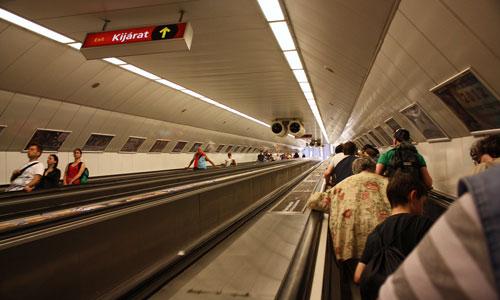 Budapest escalator