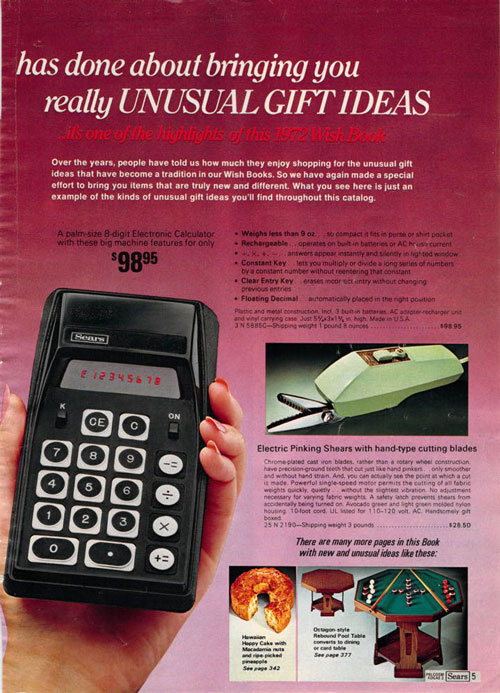 Sears calculator