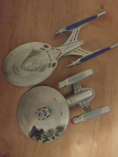 Star Trek scale models